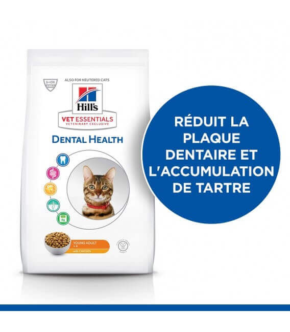 Croquettes YOUNG ADULT DENTAL HEALTH POULET Chat Sac 6.5 kg - VetEssentials