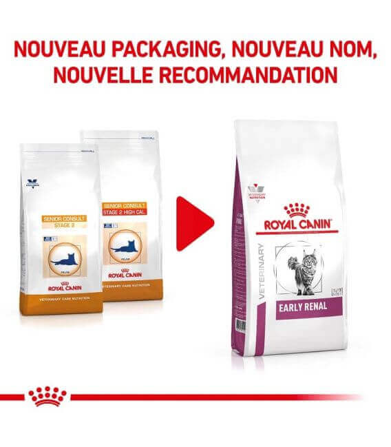 Croquettes EARLY RENAL Chat sac 6 kg - Veterinary Health Nutrition