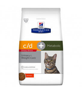 Croquettes C/D URINARY STRESS + METABOLIC Chat Sac 4 kg - Prescription Diet