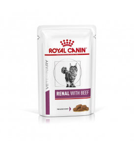 Pâtée RENAL BOEUF Chat 12x85g - Veterinary Health Nutrition