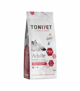 Croquettes ADULT CANARD Chat Sac 1.5 kg - Tonivet