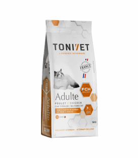 Croquettes ADULT POULET Chat Sac 5 kg - Tonivet