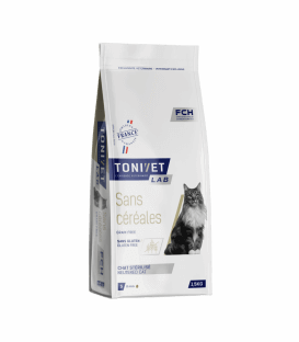 Croquettes SANS CEREALES Chat Sac 1,5 kg – Tonivet Lab