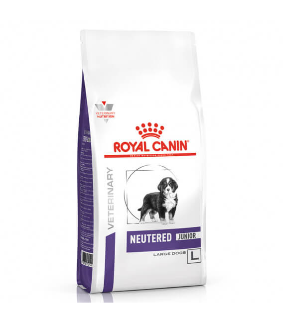 Croquettes NEUTERED JUNIOR LARGE Chien Sac 12 kg - Veterinary Health Nutrition