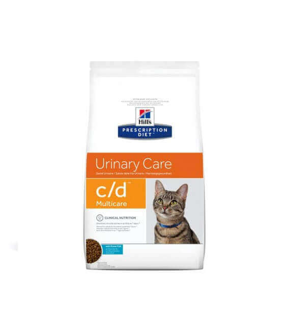 Croquettes C/D MULTICARE POISSON Sac 5 kg Chat - HILL'S Prescription Diet