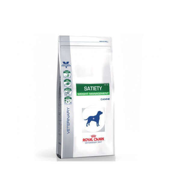 Croquettes SATIETY WEIGHT MANAGEMENT Chien Sac 12 kg - Veterinary Health Nutrition