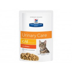 Pâtée C/D MULTICARE POULET Chat 12x85g - Prescription Diet