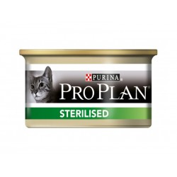 Pâtée STERILISED SAUMON Chat 24x85g - Pro Plan