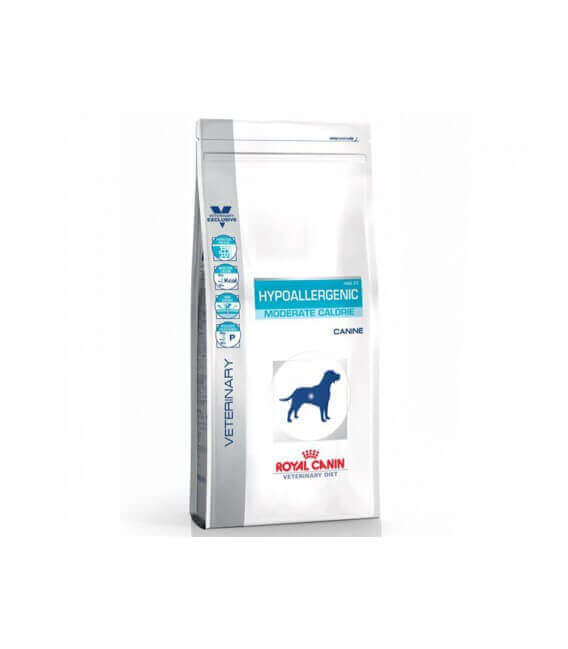 Croquettes HYPOALLERGENIC MODERATE CALORIE Sac 1.5 kg Chien - ROYAL CANIN Veterinary Diet