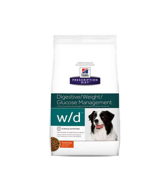 Croquettes W/D DIGESTIVE/WEIGHT MANAGEMENT Chien Sac 12 kg - Prescription Diet