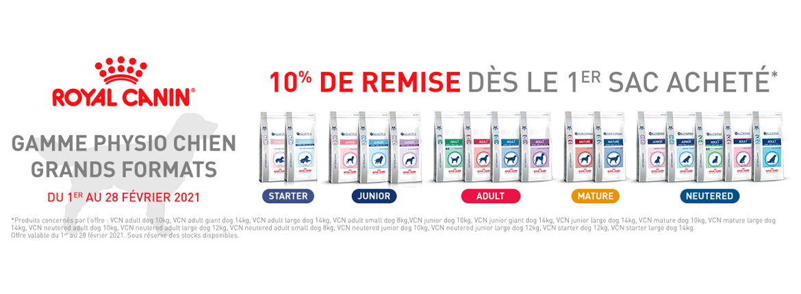Offre Royal Canin -10 %