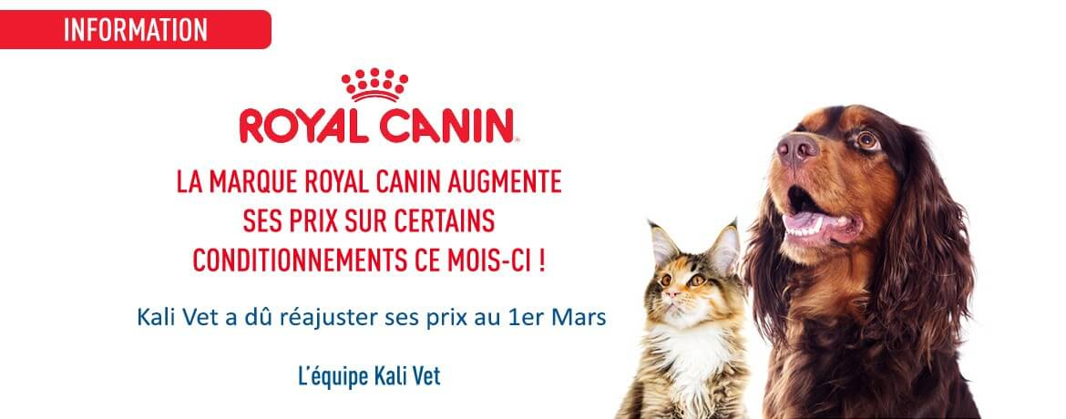 Information - Royal Canin augmente ses prix