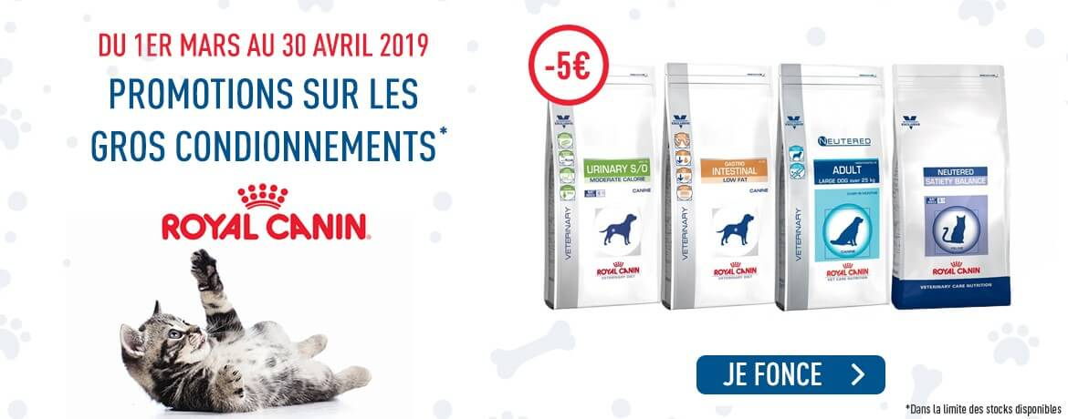 Promotions Royal Canin -5€